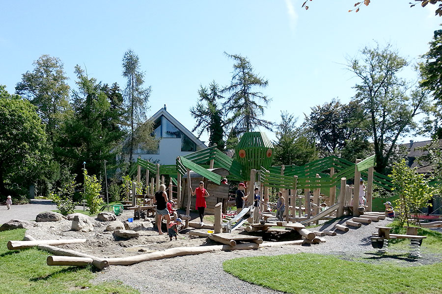 Children's playground & bathing beach