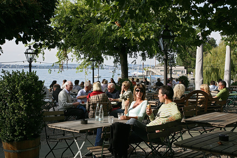 Beer Garden on Lake Zurich