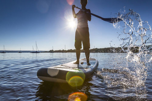 Stand Up Paddling am Zürichsee