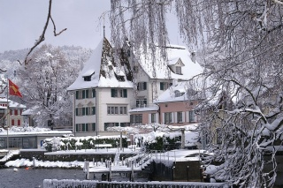 Hotel im Winter