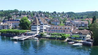 Aerial photography Hotel and Zurich